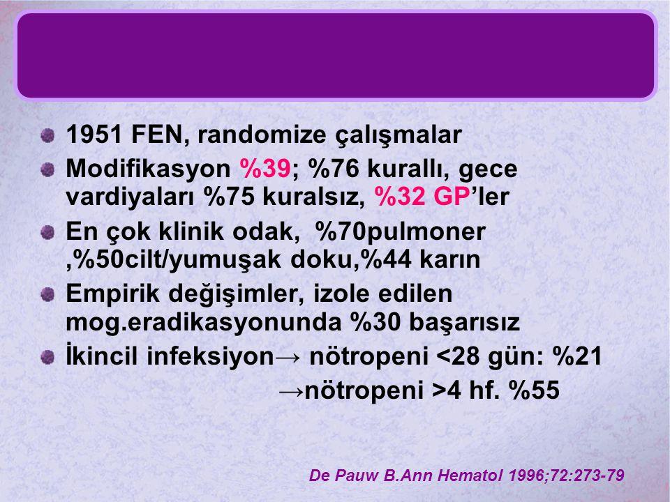 1951 FEN, randomize çalışmalar