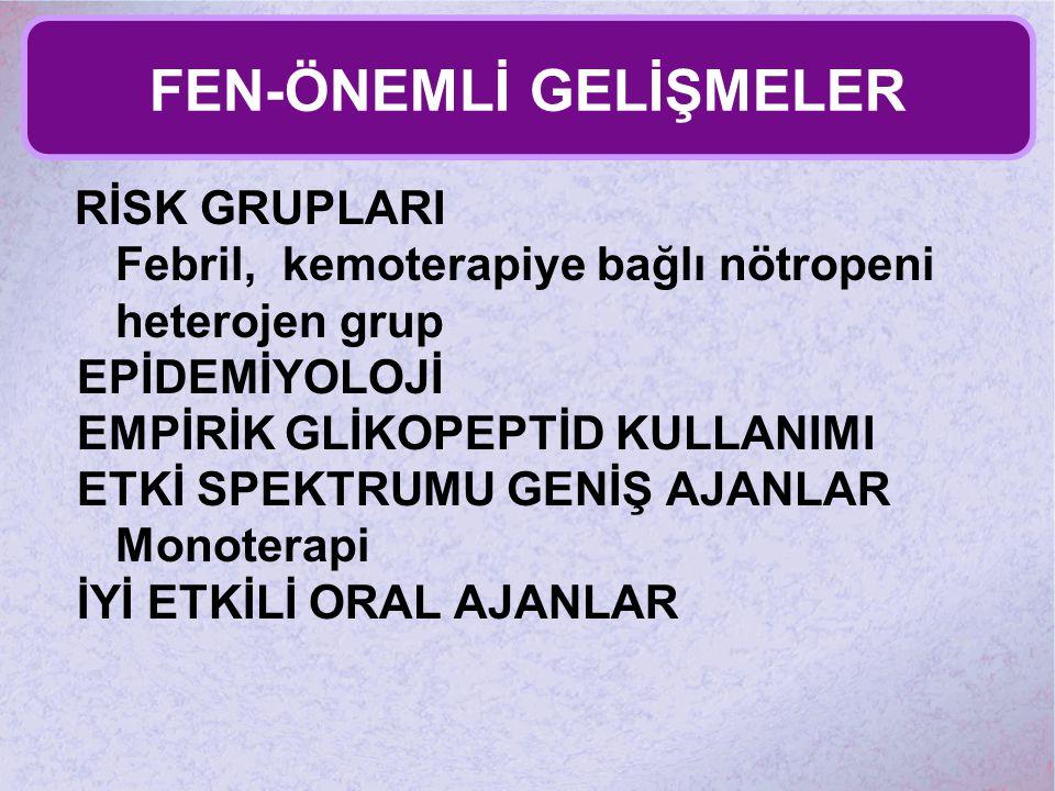 FEN-ÖNEMLİ GELİŞMELER