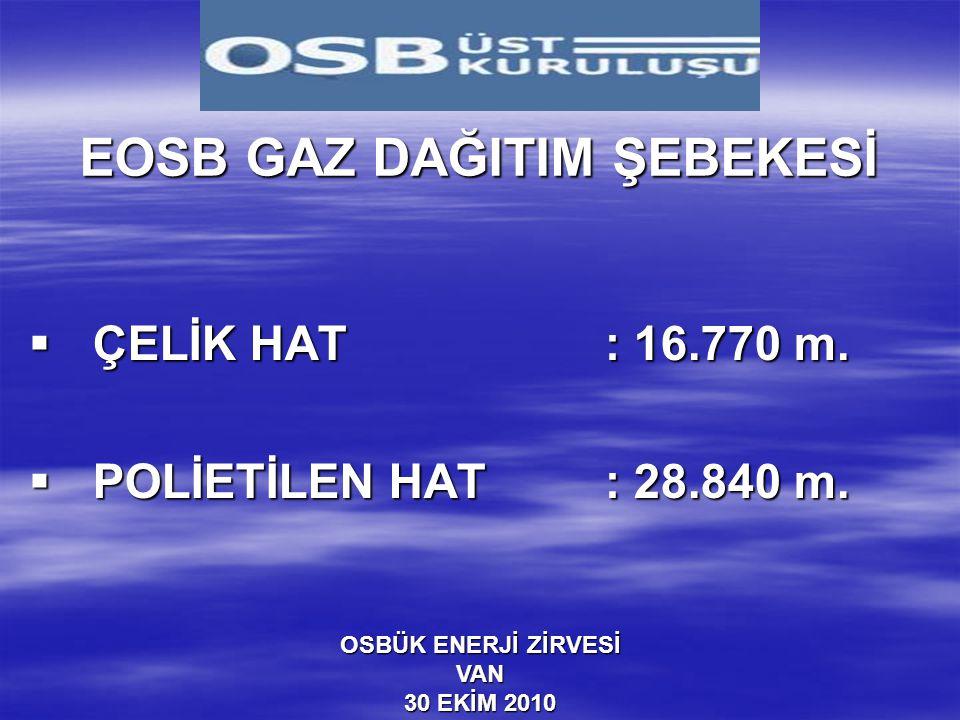 EOSB GAZ DAĞITIM ŞEBEKESİ