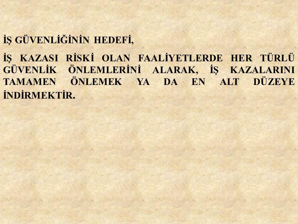 İŞ GÜVENLİĞİNİN HEDEFİ,