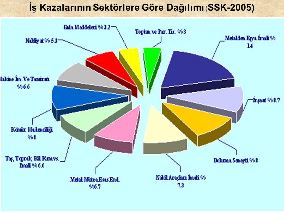 İş Kazalarının Sektörlere Göre Dağılımı (SSK-2005)
