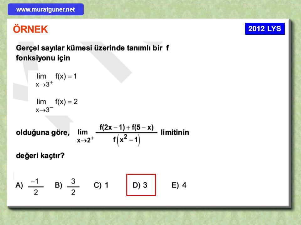 www.muratguner.net ÖRNEK 2012 LYS