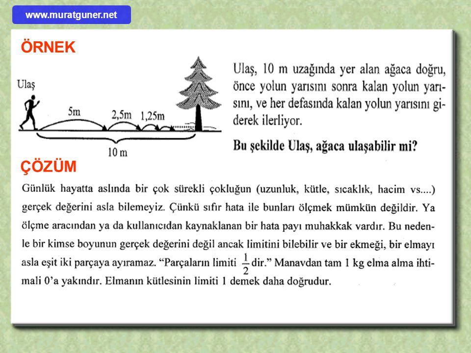 www.muratguner.net ÖRNEK ÇÖZÜM
