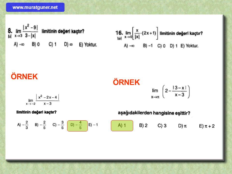 www.muratguner.net ÖRNEK ÖRNEK