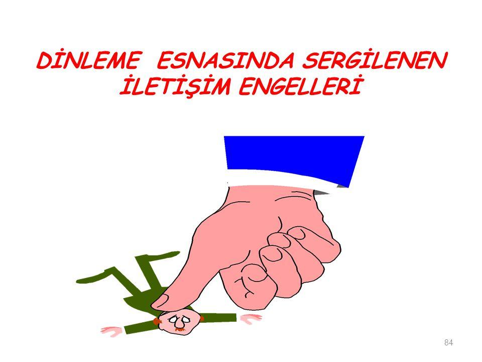 DİNLEME ESNASINDA SERGİLENEN İLETİŞİM ENGELLERİ