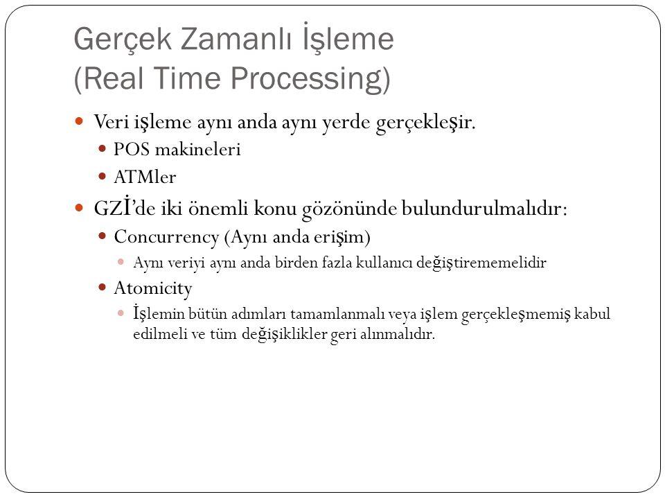 Gerçek Zamanlı İşleme (Real Time Processing)