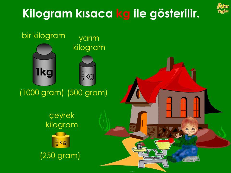 Kilogram kısaca kg ile gösterilir.
