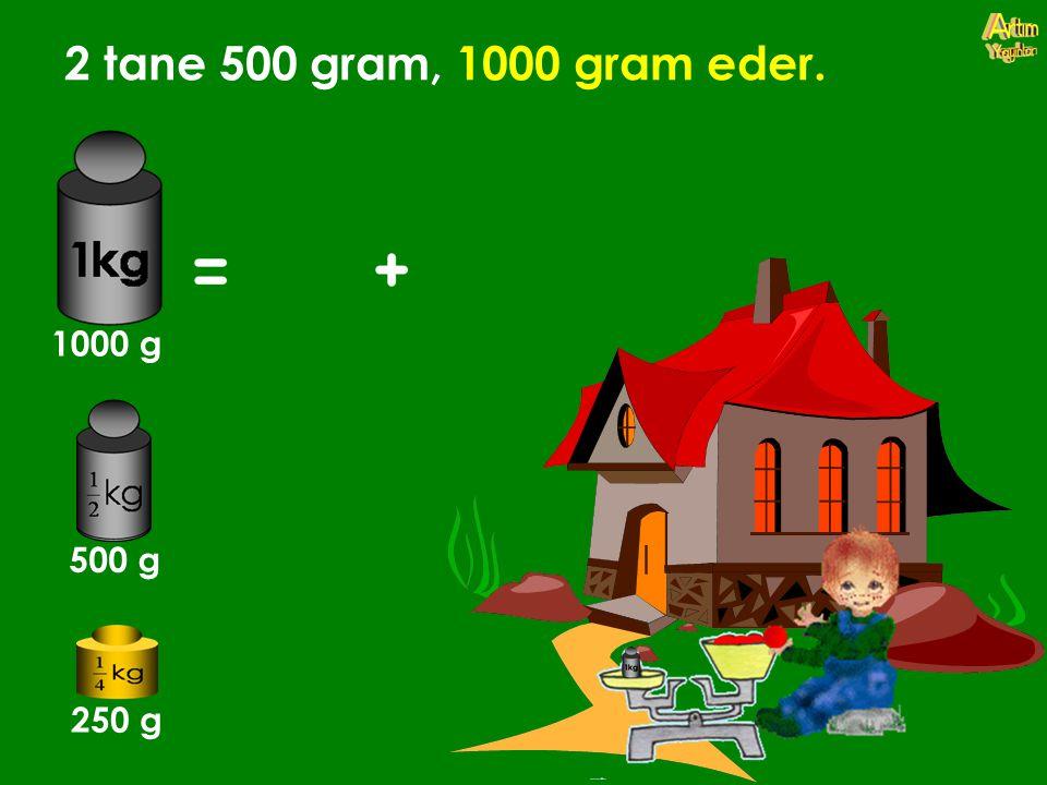 2 tane 500 gram, 1000 gram eder. 1000 g 500 g 250 g