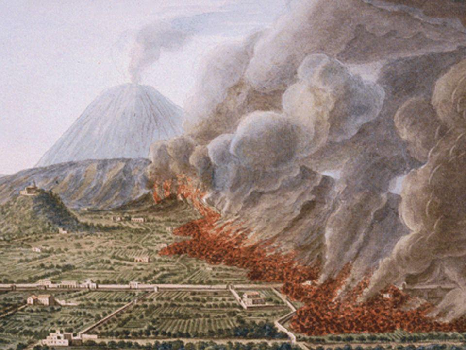 İtalya Vezüv Yanardağı'nın batı yamacında Pompei kenti yer alıyor