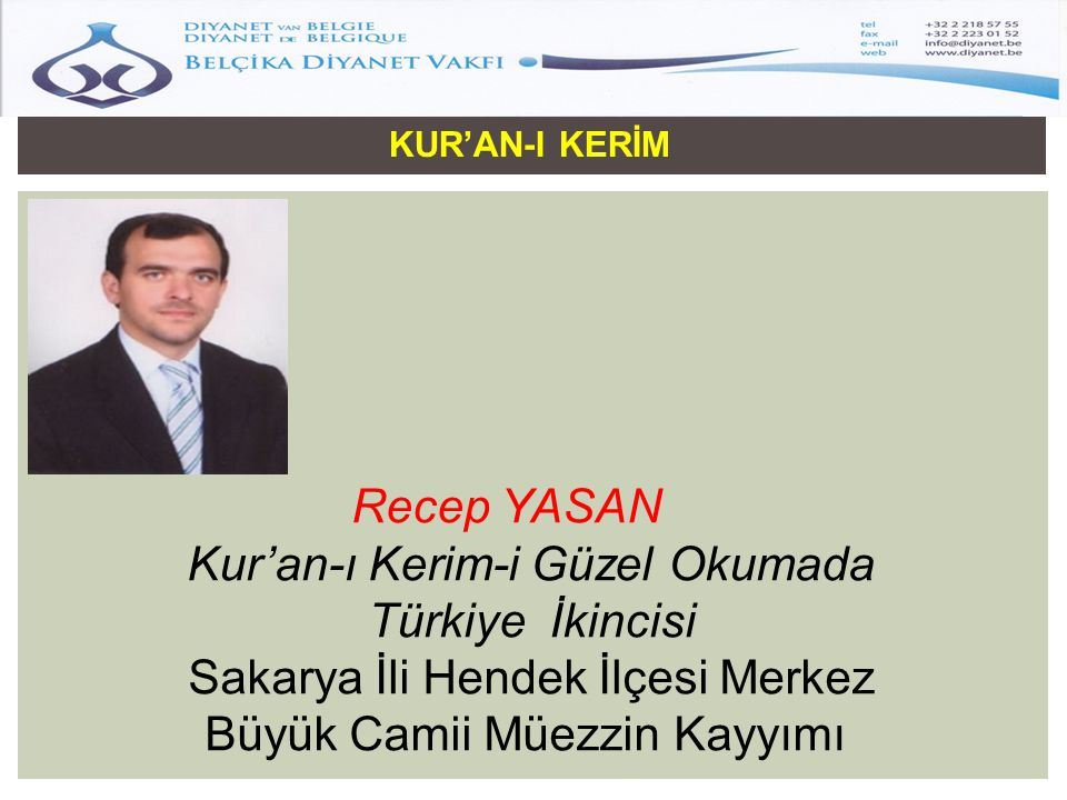 Kur'an-ı Kerim-i Güzel Okumada Türkiye İkincisi