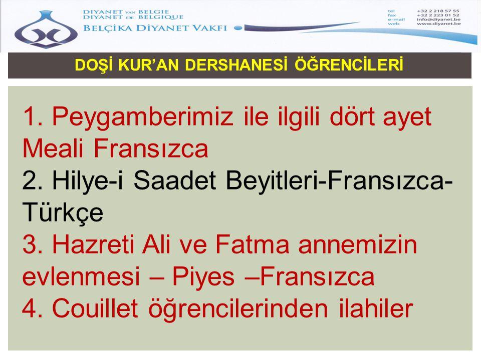 DOŞİ KUR'AN DERSHANESİ ÖĞRENCİLERİ