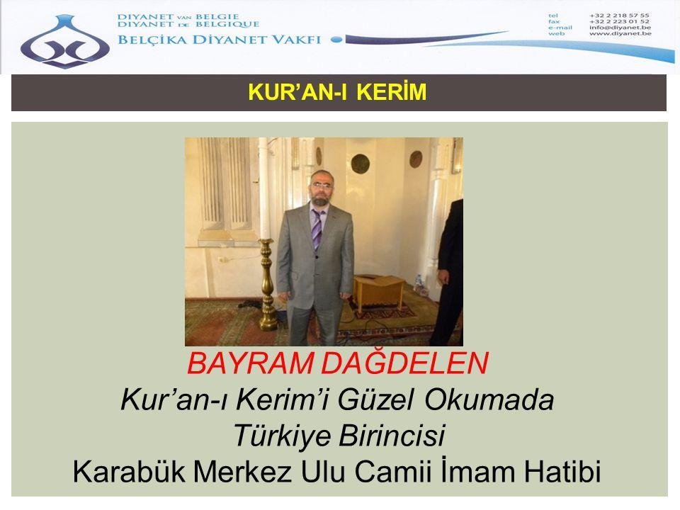 Kur'an-ı Kerim'i Güzel Okumada Türkiye Birincisi