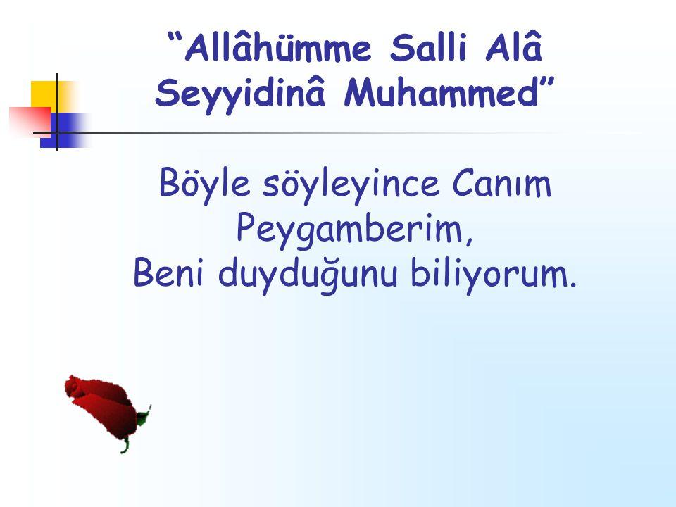 Allâhümme Salli Alâ Seyyidinâ Muhammed Böyle söyleyince Canım Peygamberim, Beni duyduğunu biliyorum.