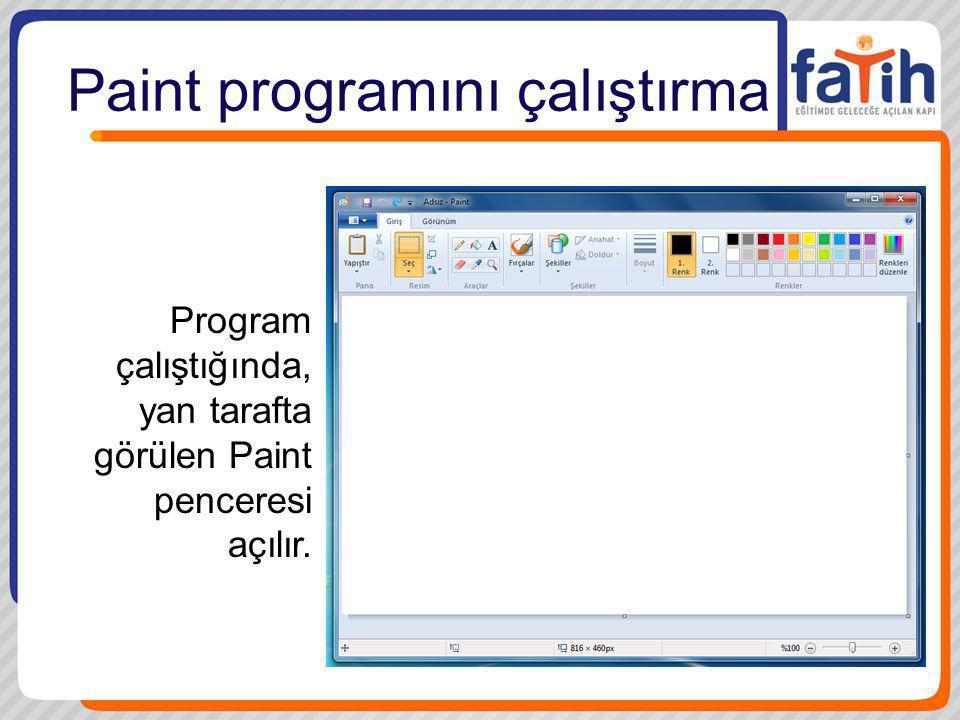 Paint programını çalıştırma