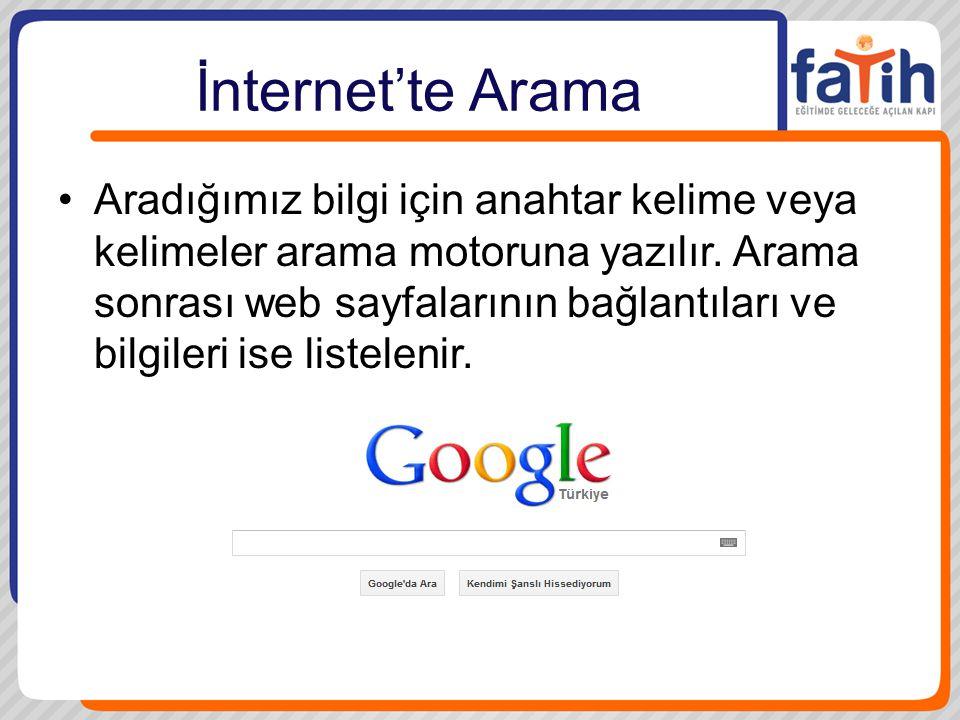 İnternet'te Arama