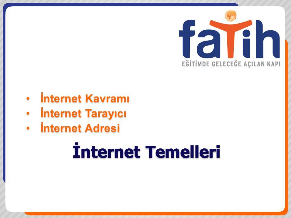 İnternet Temelleri İnternet Kavramı İnternet Tarayıcı İnternet Adresi