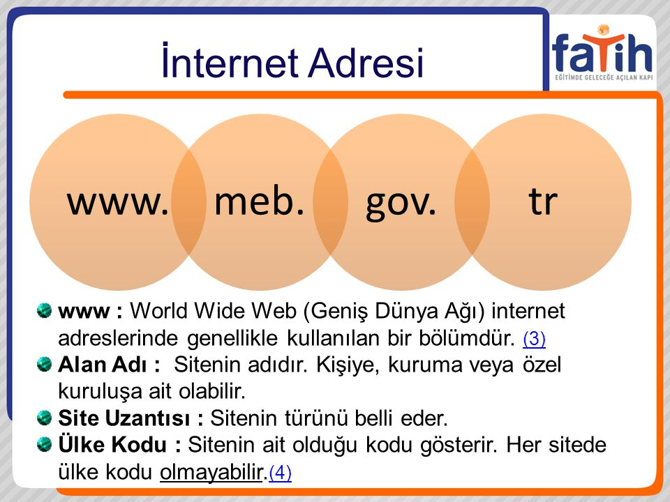 www. meb. gov. tr İnternet Adresi