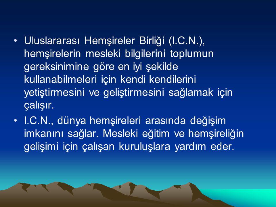 Uluslararası Hemşireler Birliği (I. C. N