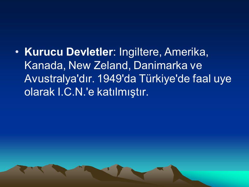 Kurucu Devletler: Ingiltere, Amerika, Kanada, New Zeland, Danimarka ve Avustralya dır.