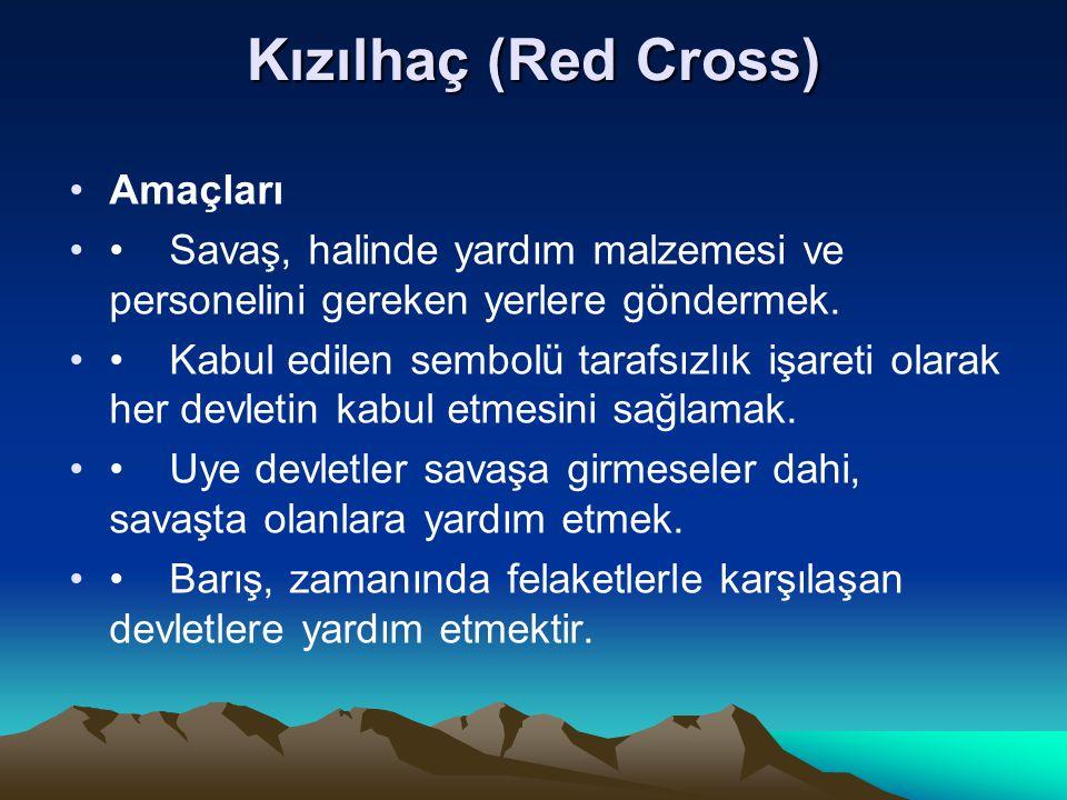 Kızılhaç (Red Cross) Amaçları