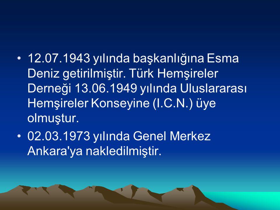 12. 07. 1943 yılında başkanlığına Esma Deniz getirilmiştir