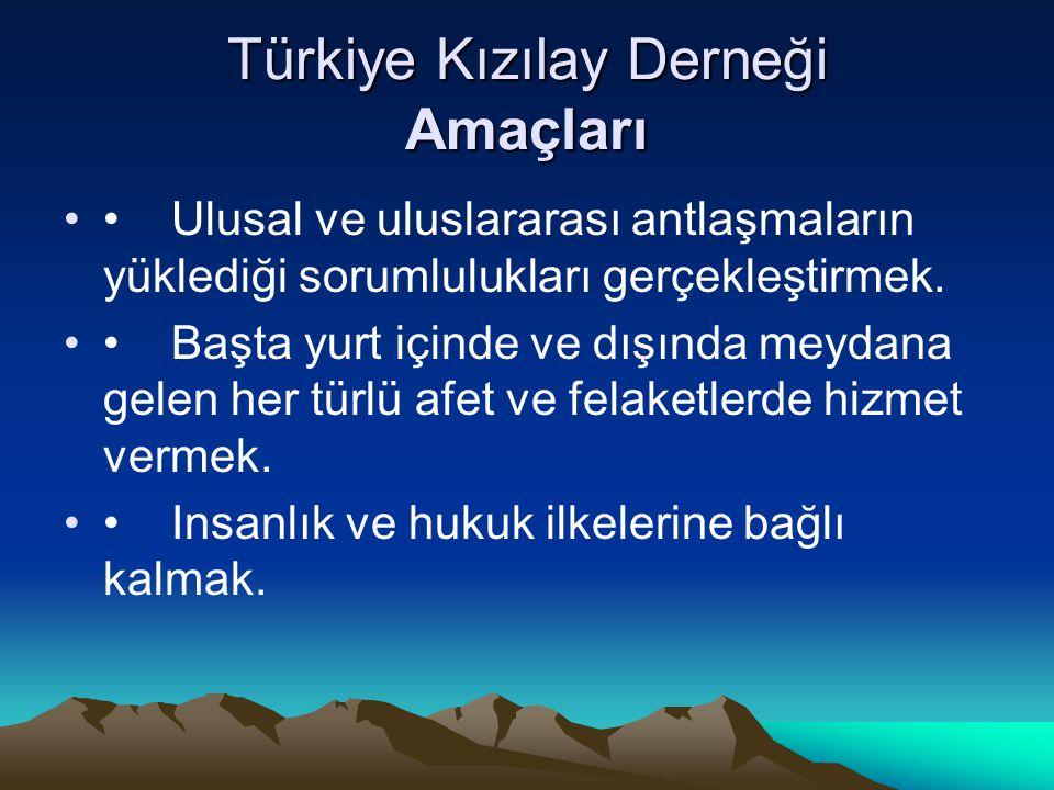 Türkiye Kızılay Derneği Amaçları