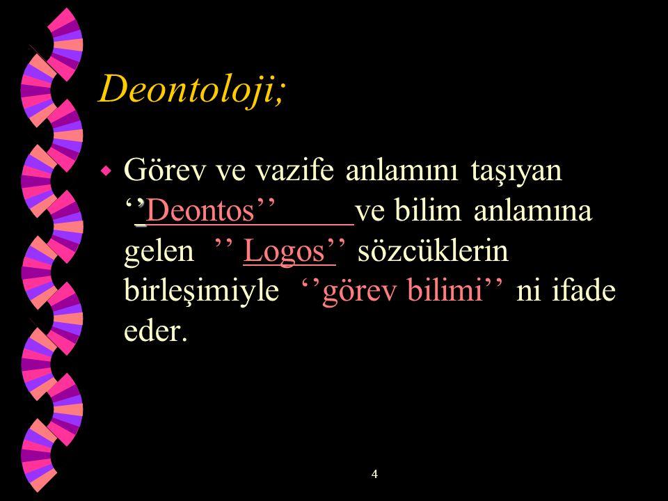 Deontoloji;