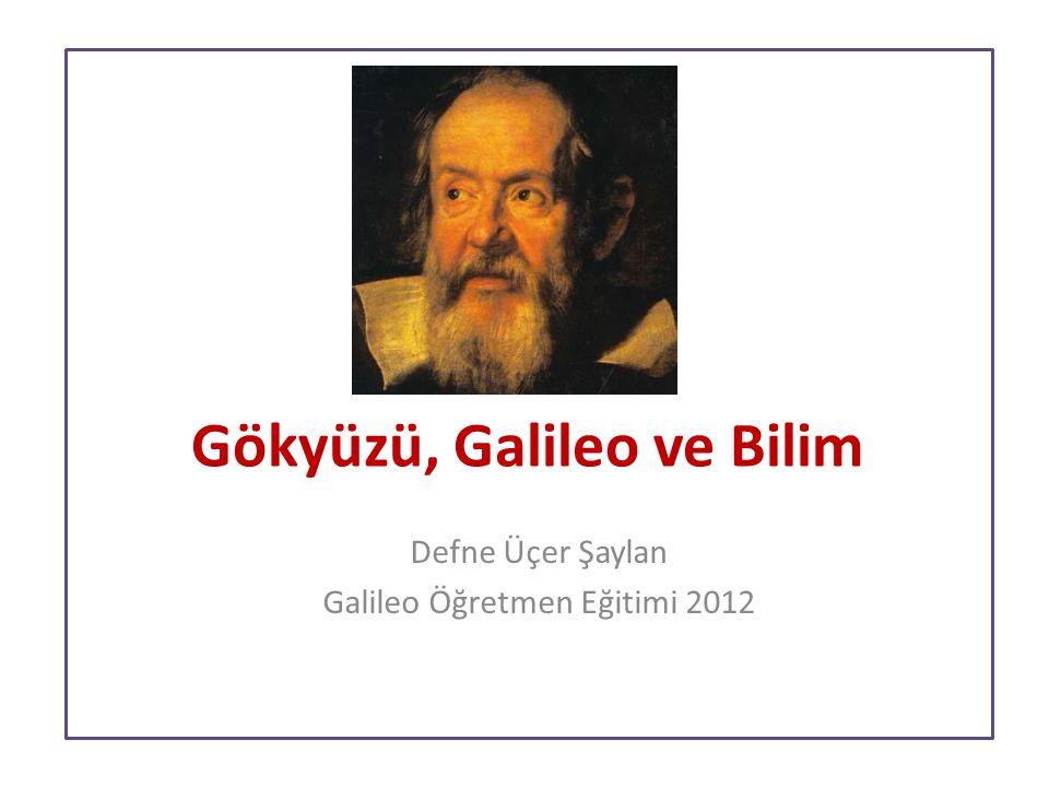 Gökyüzü, Galileo ve Bilim