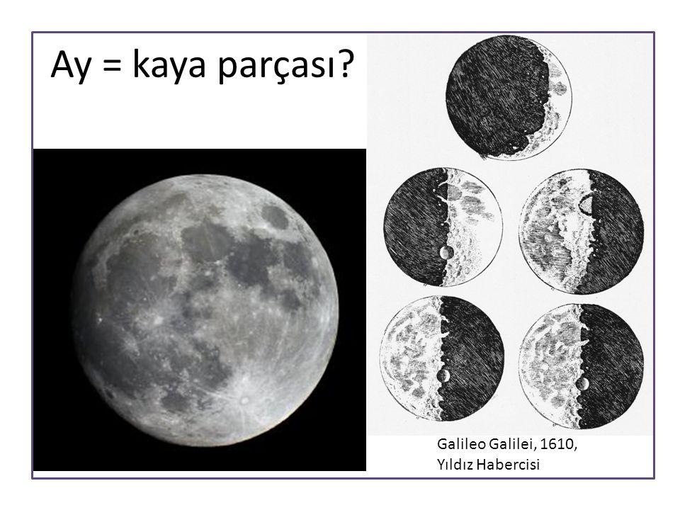 Ay = kaya parçası Galileo Galilei, 1610, Yıldız Habercisi