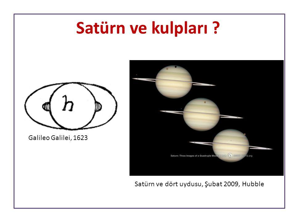 Satürn ve kulpları Galileo Galilei, 1623