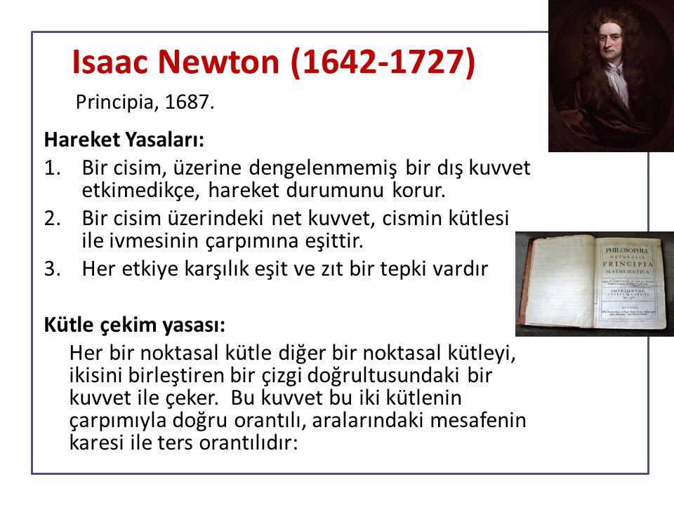 Isaac Newton (1642-1727) Hareket Yasaları:
