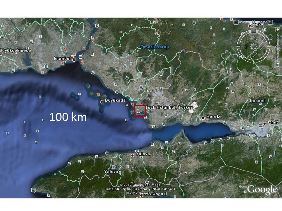 1 km 100 km