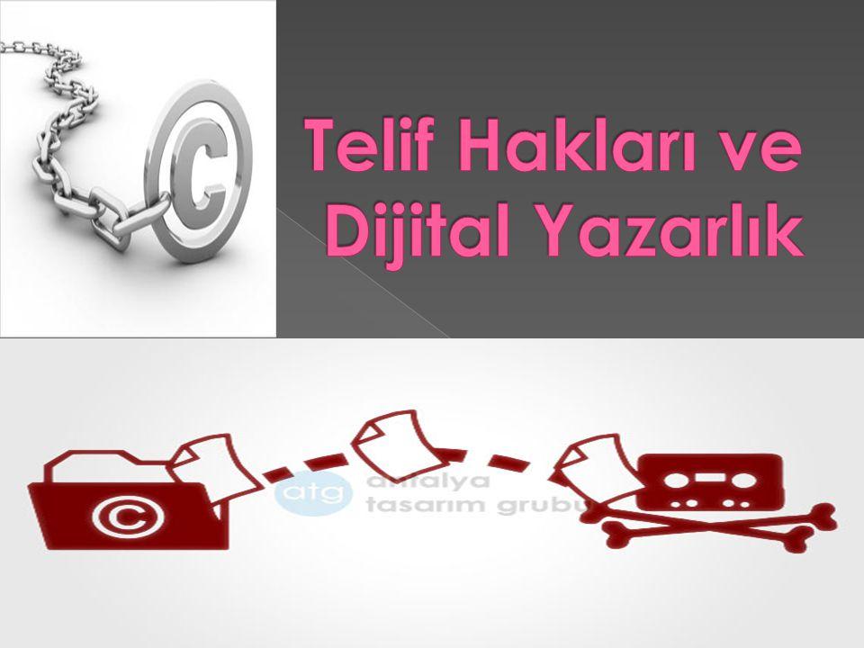 Telif Hakları ve Dijital Yazarlık