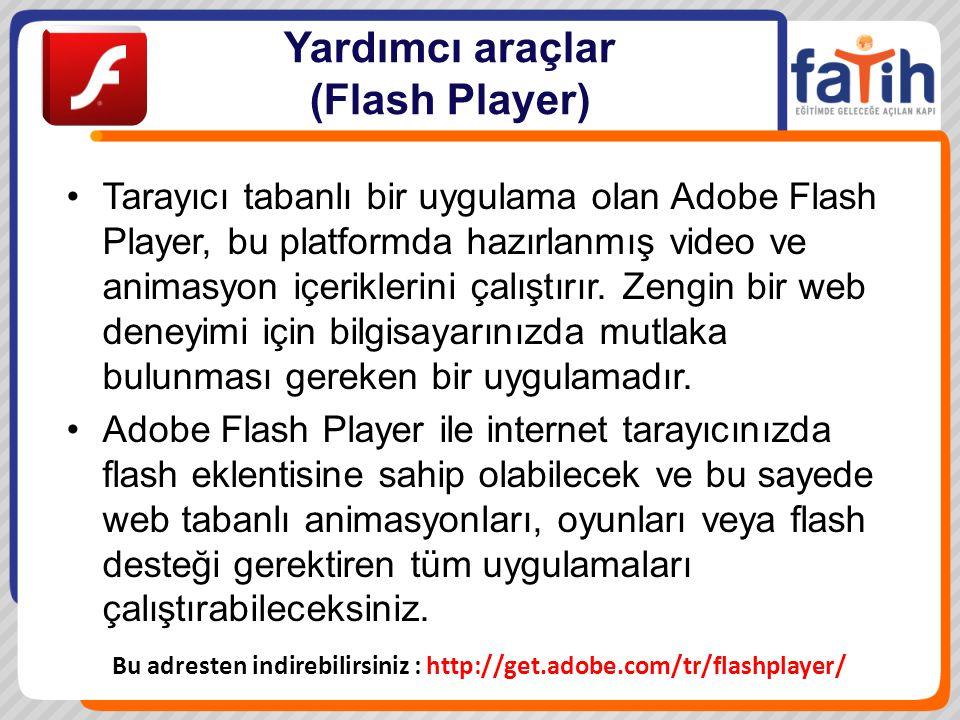 Yardımcı araçlar (Flash Player)