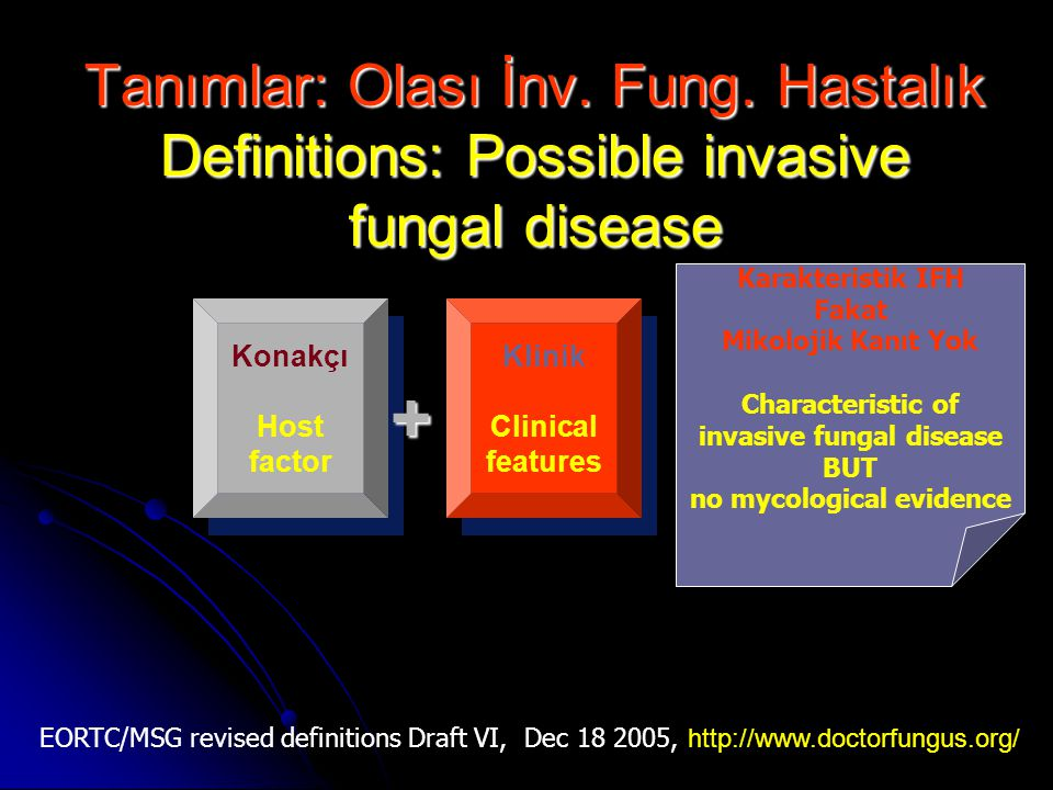 invasive fungal disease no mycological evidence