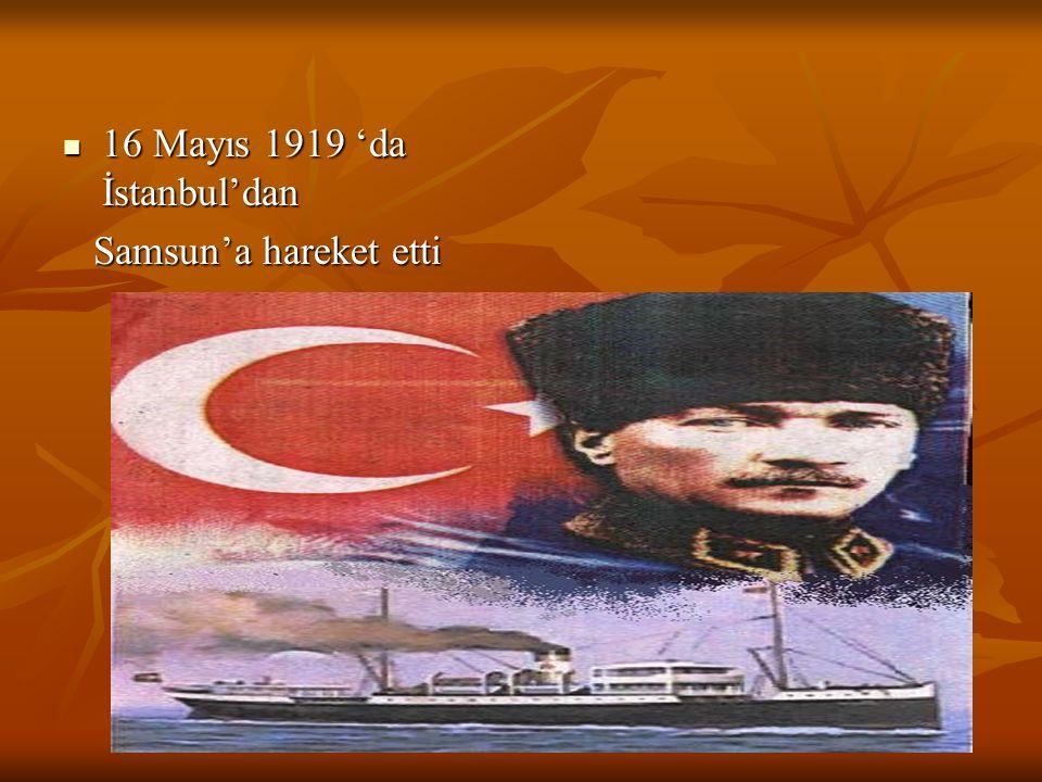 16 Mayıs 1919 'da İstanbul'dan