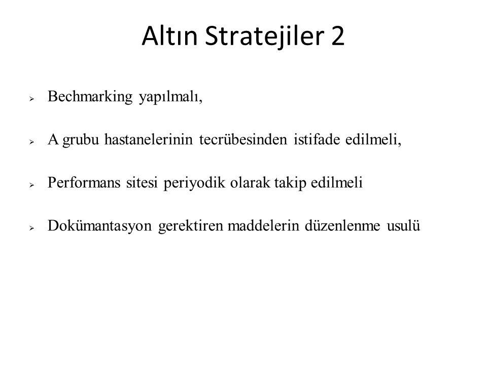 Altın Stratejiler 2 Bechmarking yapılmalı,