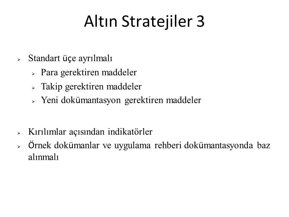 Altın Stratejiler 3 Standart üçe ayrılmalı Para gerektiren maddeler