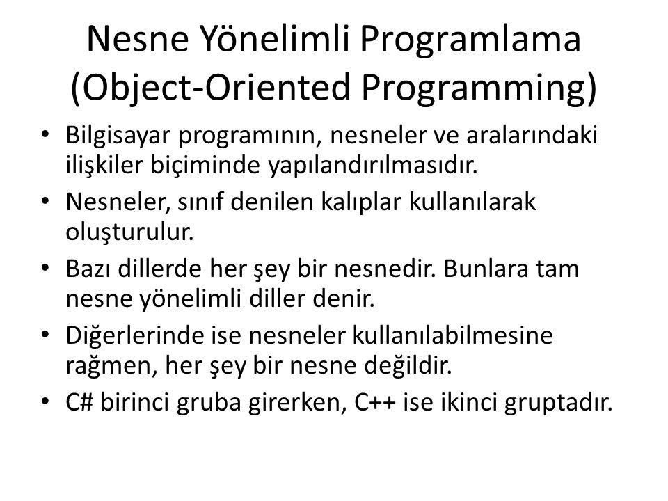 Nesne Yönelimli Programlama (Object-Oriented Programming)