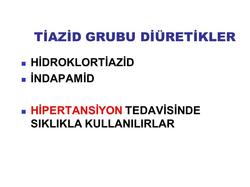 TİAZİD GRUBU DİÜRETİKLER