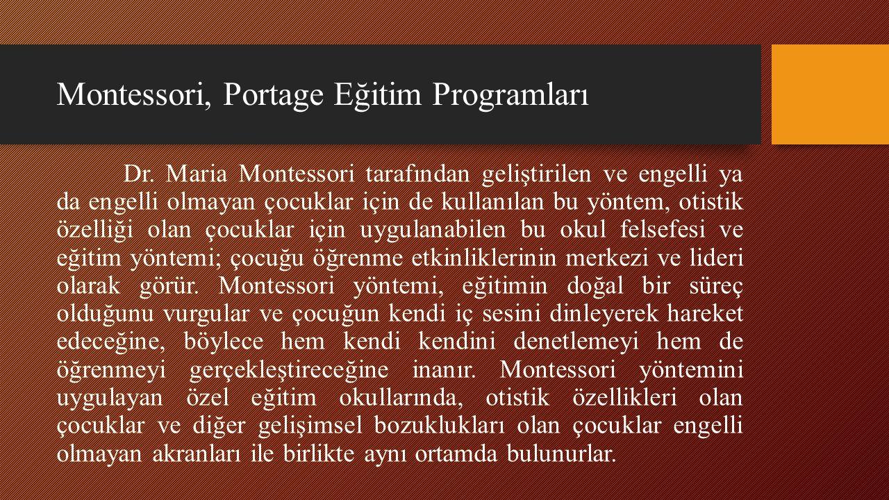 Montessori, Portage Eğitim Programları