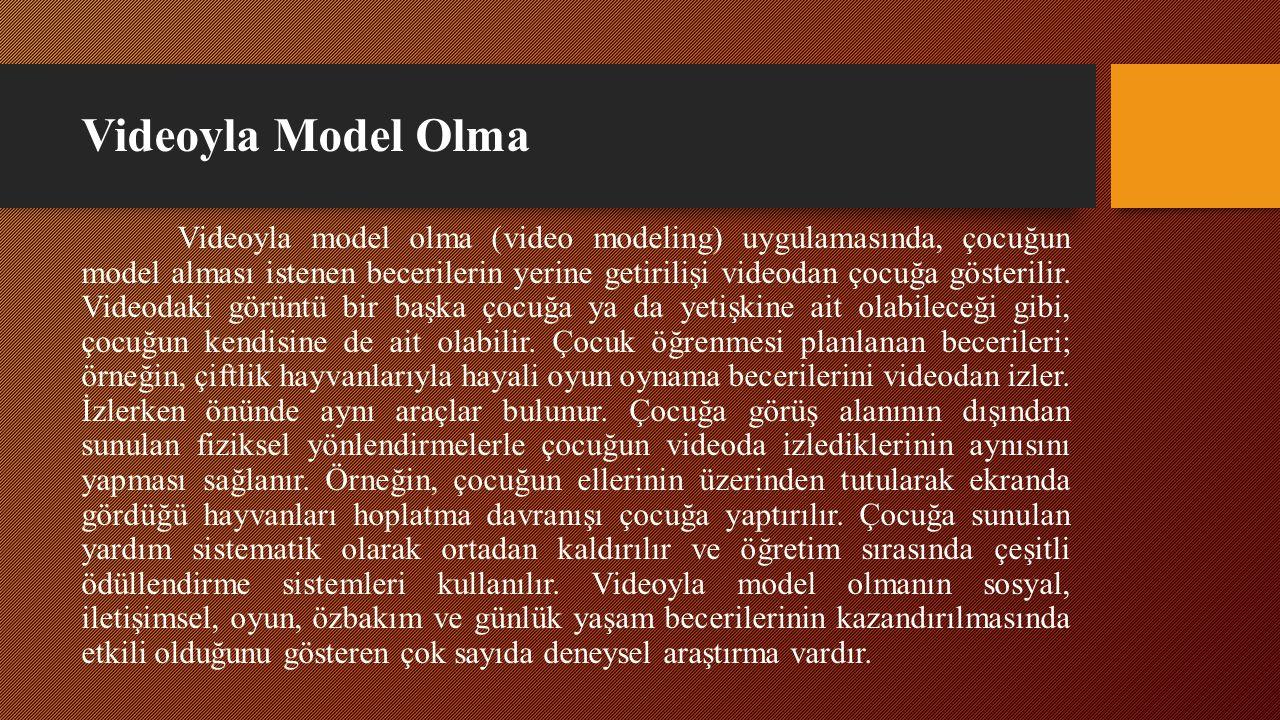 Videoyla Model Olma