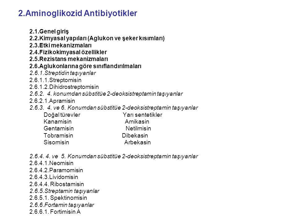 2.Aminoglikozid Antibiyotikler