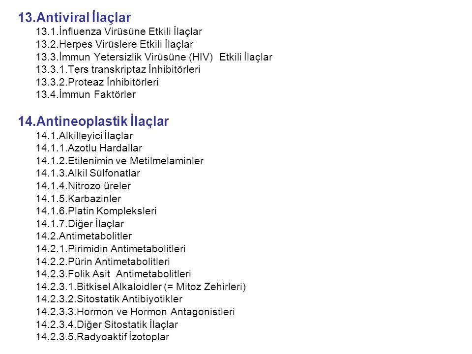 14.Antineoplastik İlaçlar