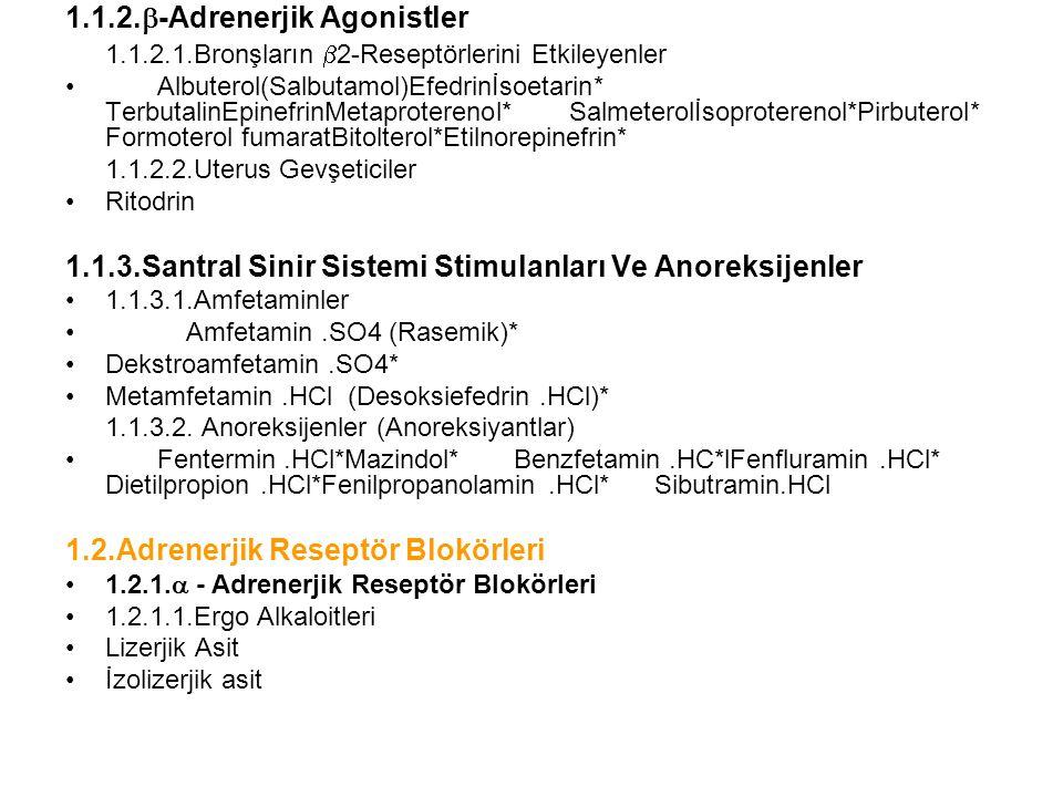 1.1.2.-Adrenerjik Agonistler