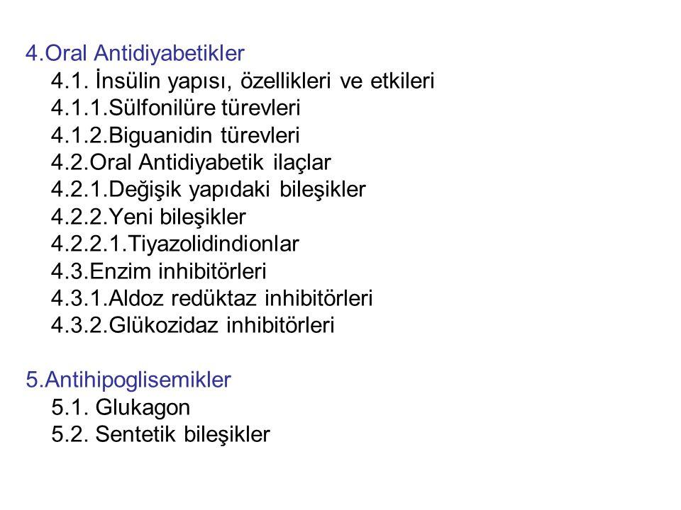4.Oral Antidiyabetikler