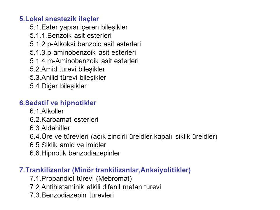5.Lokal anestezik ilaçlar