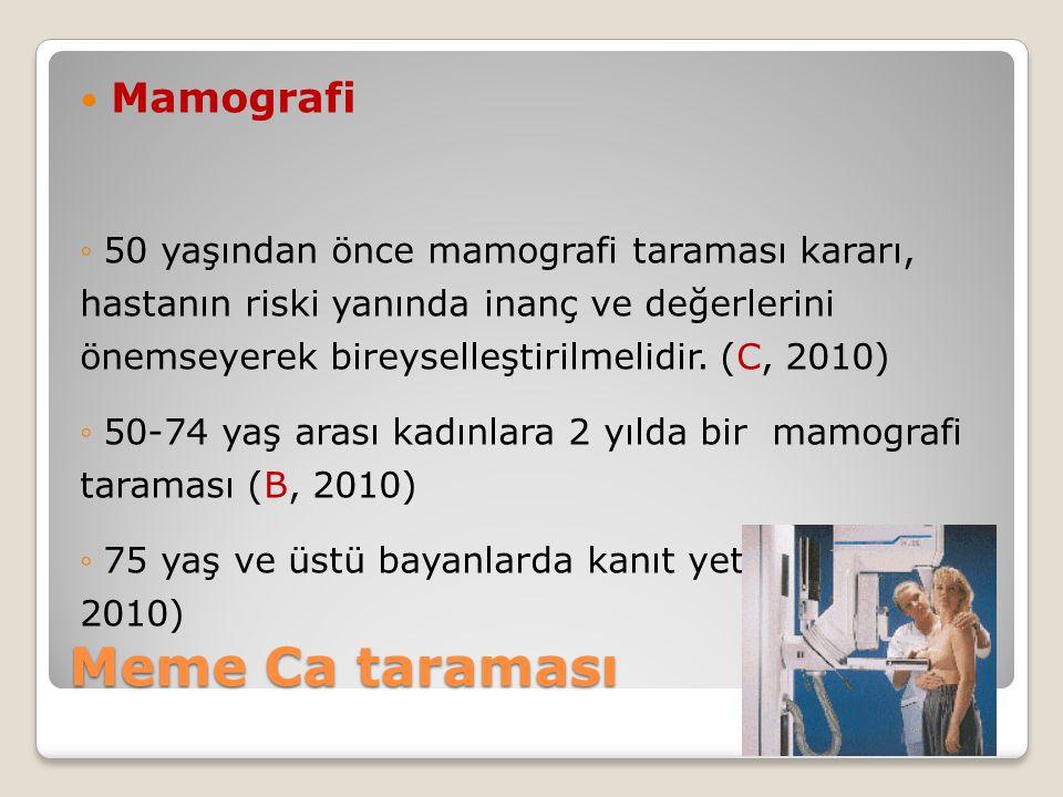 Meme Ca taraması Mamografi