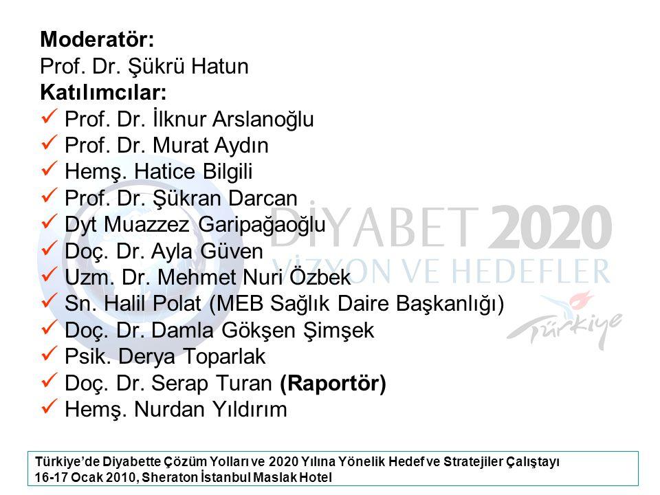 Prof. Dr. İlknur Arslanoğlu Prof. Dr. Murat Aydın Hemş. Hatice Bilgili