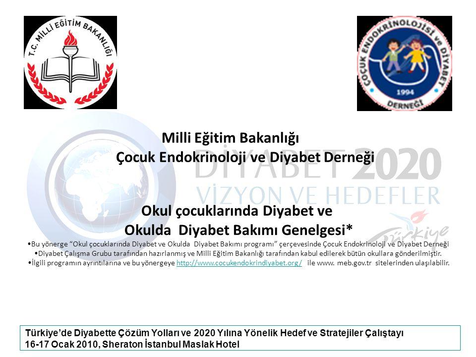 Milli Eğitim Bakanlığı Okul çocuklarında Diyabet ve